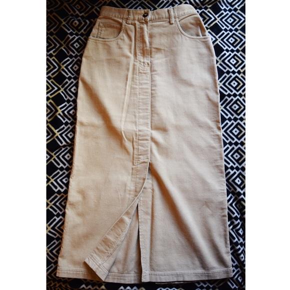 8d01d600b1 Eddie Bauer Dresses & Skirts - EDDIE BAUER corduroy tan max pencil skirt  SIZE 4